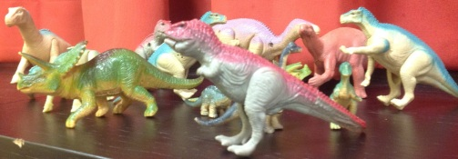 A herd of Dinosaur Toys from the 1980s
